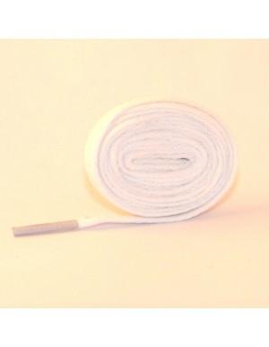 Lacets plats blanc 110 cm