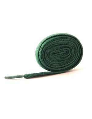 Lacets plats vert foncé 110 cm
