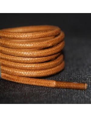 Lacets cirés marron clair 75 cm