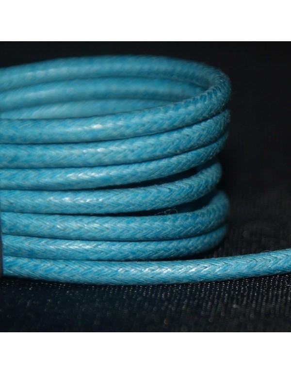 Lacets cirés bleus clair 75 cm
