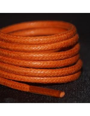 Lacets cirés oranges 75 cm