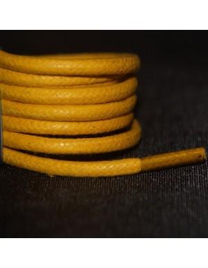 Lacets cirés jaunes 75 cm