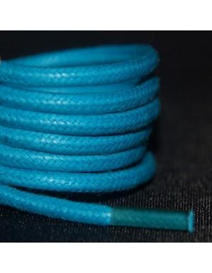 Lacets cirés bleus turquoise 75 cm