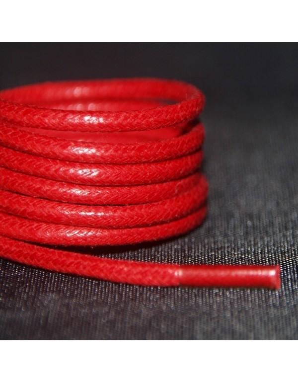 Lacets cirés rouges 75 cm