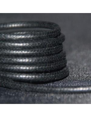 Lacets cirés noirs 75 cm