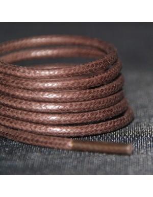 Lacets cirés marron chocolat 75 cm