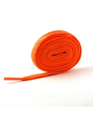Lacets plats orange fluo 110 cm