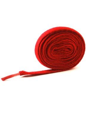 Lacets plats rouge 110 cm
