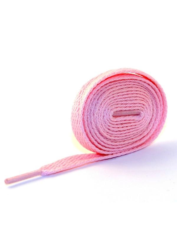 Lacets plats rose pâle 110 cm