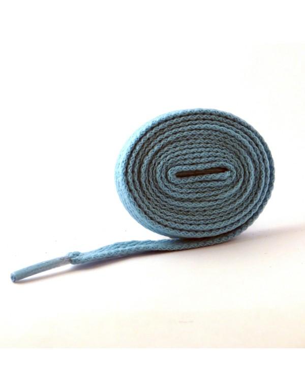 Lacets plats bleu turquoise 110 cm