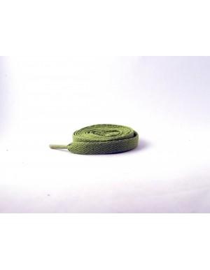 Lacets plats vert olive 110 cm