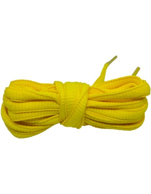 Lacets baskets jaune 110 cm