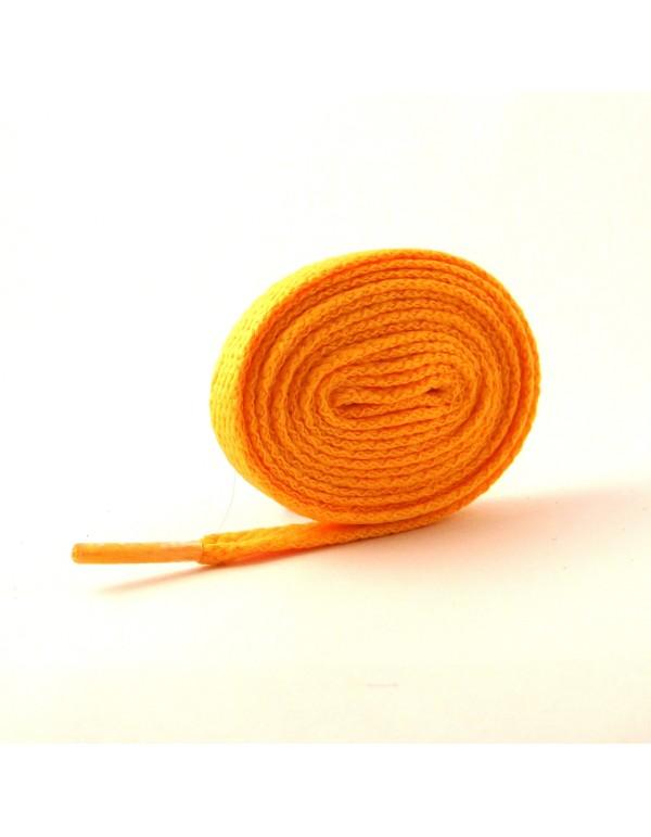 Lacets plats jaune orangé 110 cm