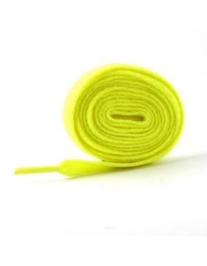 Lacets plats jaune fluo 110 cm