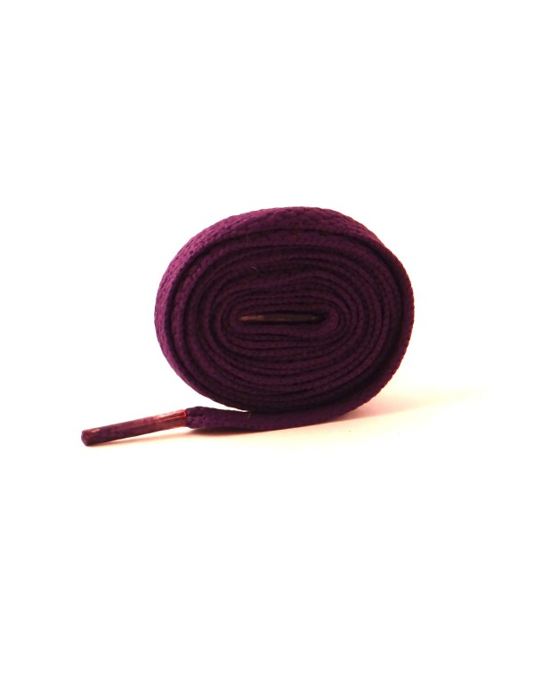 Lacets plats violet 110 cm