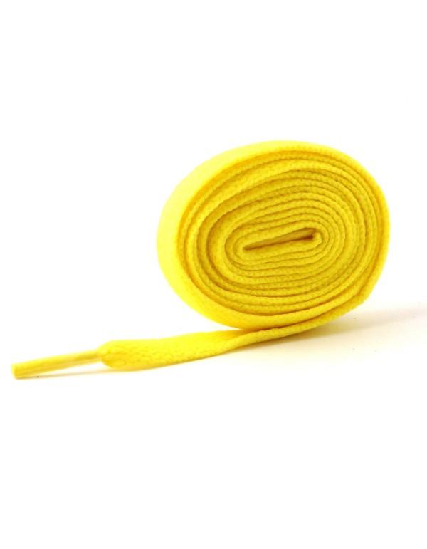 Lacets plats jaune 110 cm